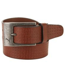 Puma Brown Casual Belt For Men