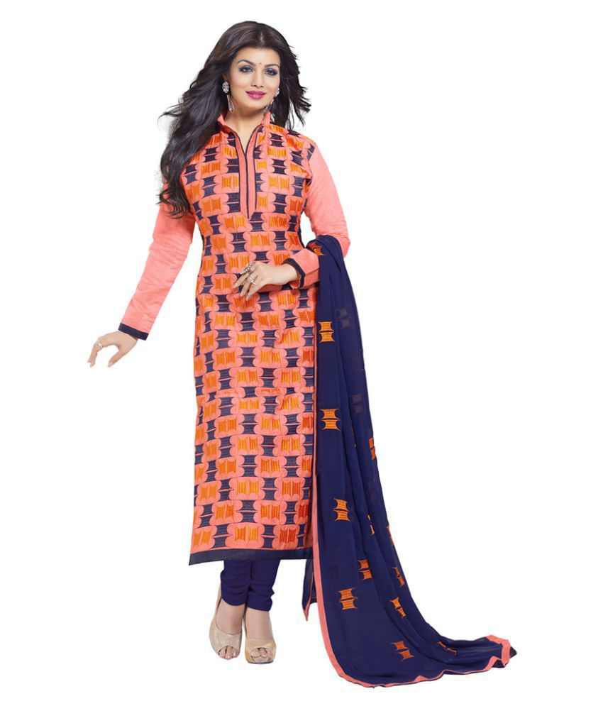 6afc31deb41 Women Icon Multicoloured Chanderi Dress Material available at SnapDeal for  Rs.1239