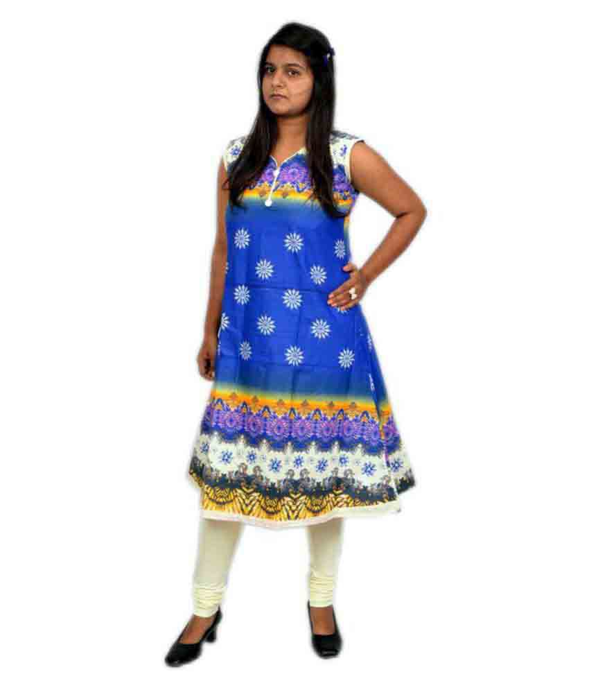 Lady Buzzz Multicoloured Cotton Anarkali Kurti  available at snapdeal for Rs.317