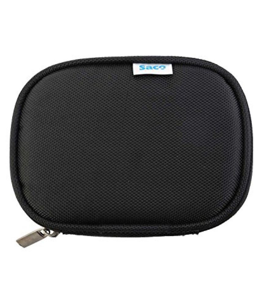 Saco Shock Proof External Hard Disk Case For Toshiba Canvio Simple Hdtp110ak3aa 2.5-inch 1tb External Hard Disk (black)  available at snapdeal for Rs.180