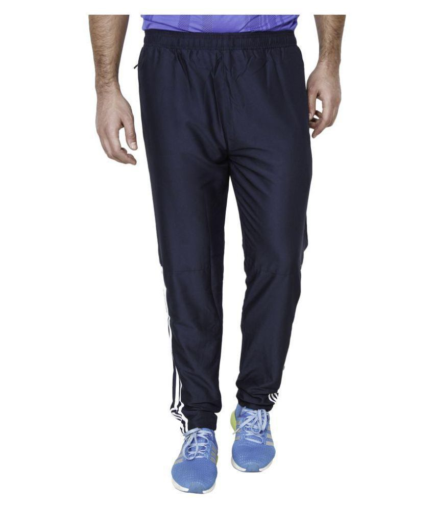 Adidas Navy Polyester Trackpant  available at snapdeal for Rs.849