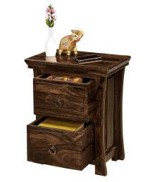Inhouz Vikram Solid Wood Bedside Table