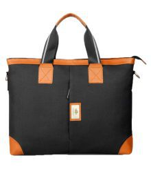 The Clownfish Black Polyester Office Bag