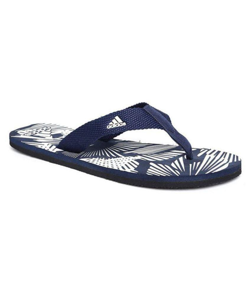 Adidas Blue Thong Flip Flop  available at snapdeal for Rs.489