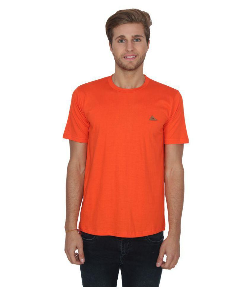 Lee Marc Orange Round T-shirt  available at snapdeal for Rs.299