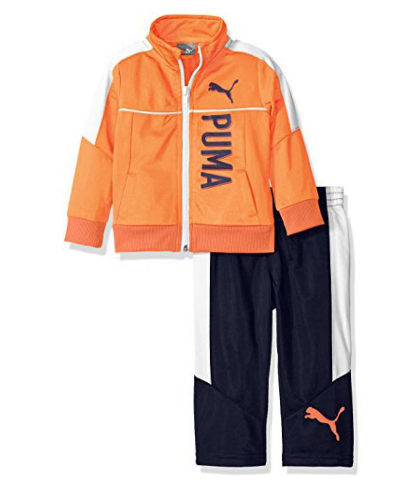 Puma Baby Boys' 2 Piece Zip Up Track Jacket And Pant Set  available at snapdeal for Rs.1305