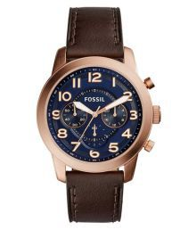 Fossil Brown Analog Pilot 54 Chronograph Quartz Mens Watch