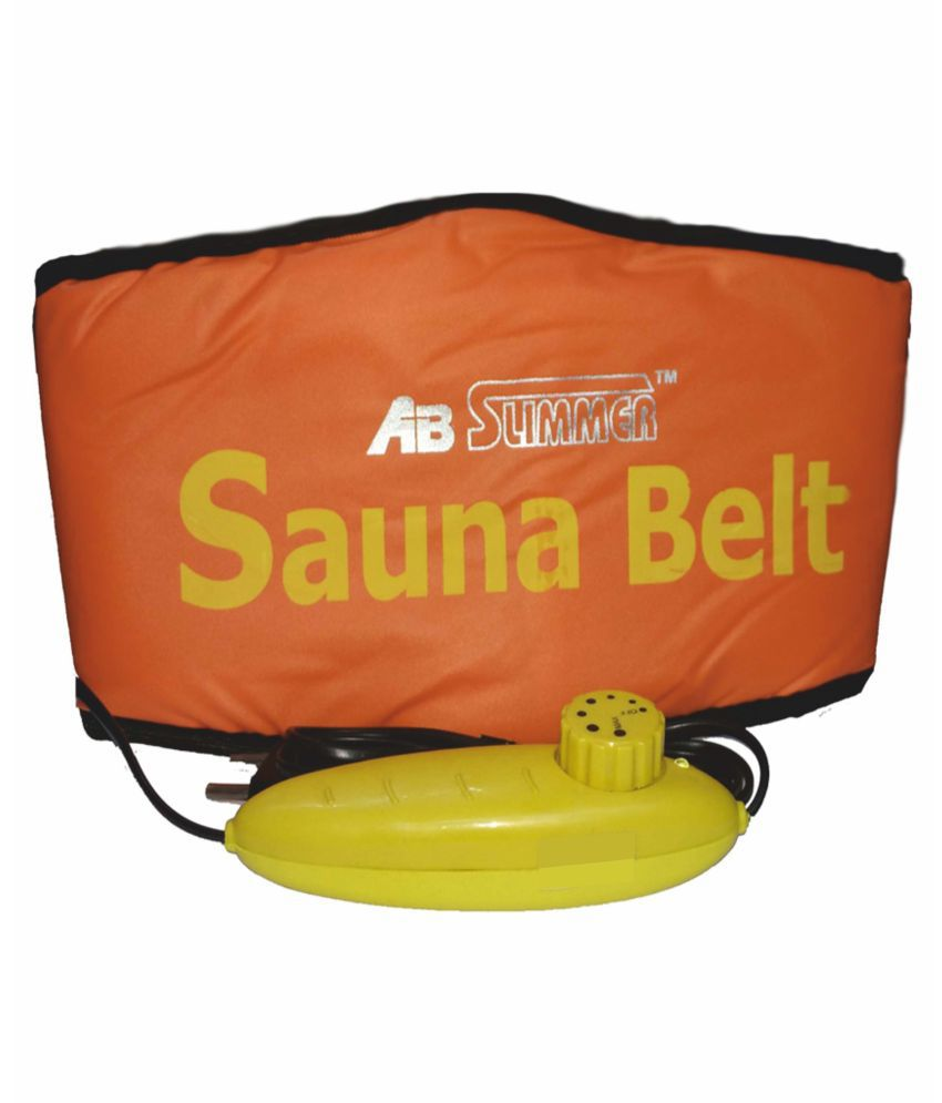 Any Time Buy Ab Slimmer Sauna Tummy Belt - Orange Adjustable  available at snapdeal for Rs.325