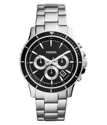 Fossil End Of Season Briggs Silver Chronograph Mens Watch - Ch2926
