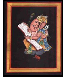 Advance Hotline Handmade Ganesha Fabric Painting Without Frame Single Piece