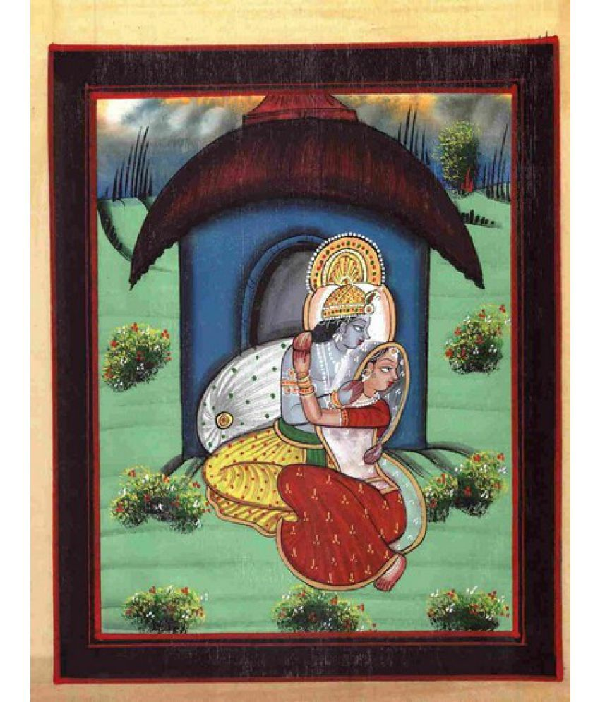Advance Hotline Handmade-water-color-painting-radha-krishna Fabric Painting Without Frame Single Piece  available at snapdeal for Rs.299