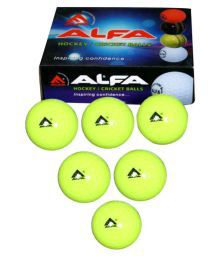 Alfa Hockey Ball Hollow Green - Pack Of 6
