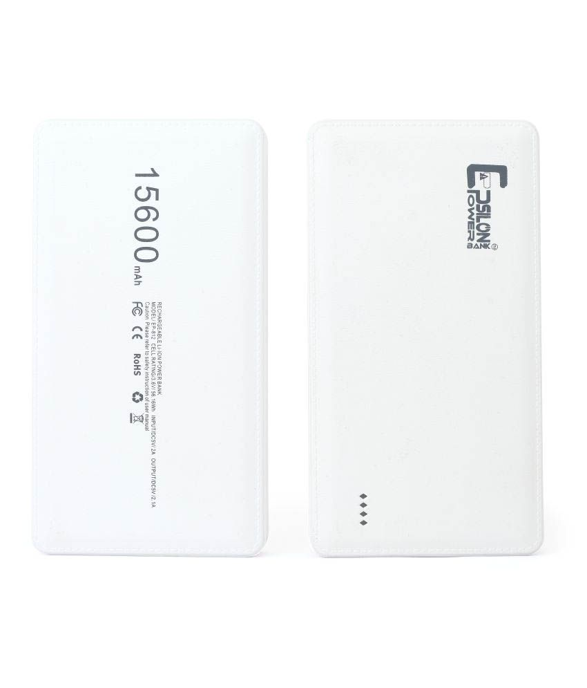 Epsilon 15600 -mah Li-ion Power Bank White  available at snapdeal for Rs.989