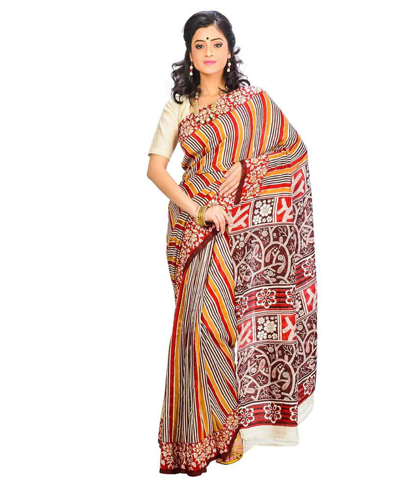 Indian Saree Mandir Multi Silk Saree