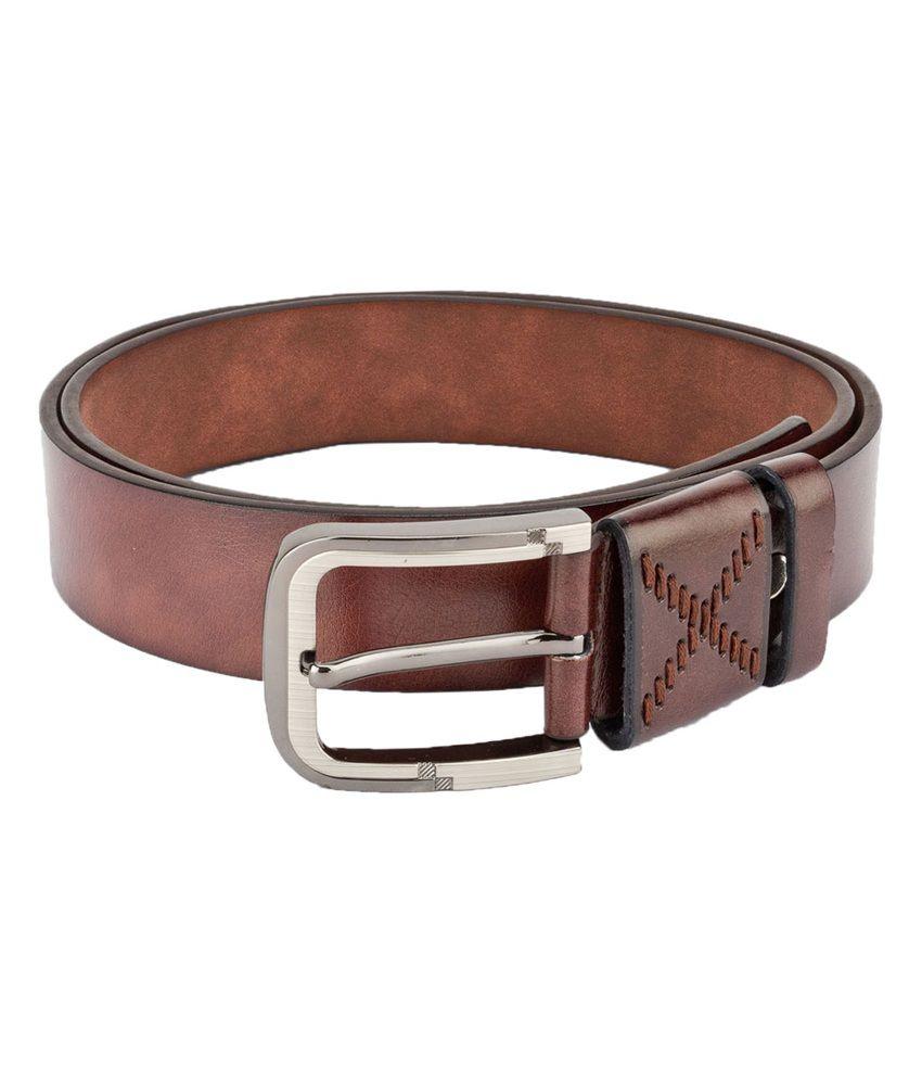 Swiss Design Men Casual Brown Leatherite Belt - SDBLT-08-BR