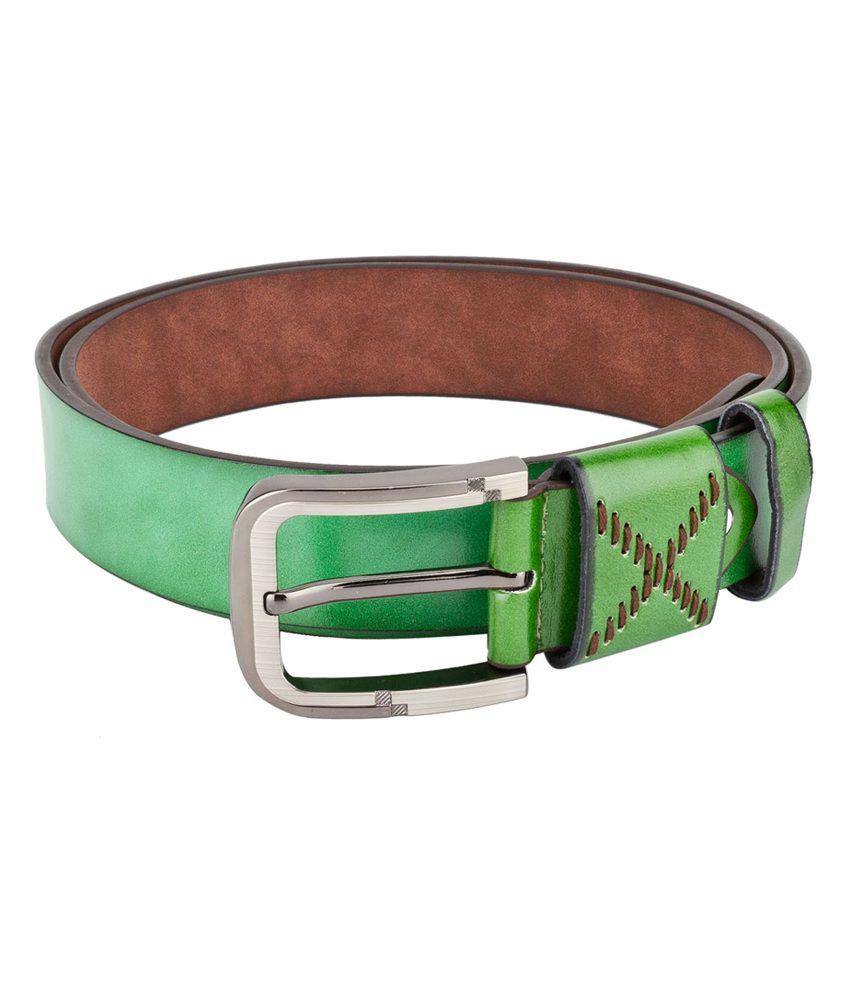Swiss Design Men Casual Green Leatherite Belt - SDBLT-08-GR