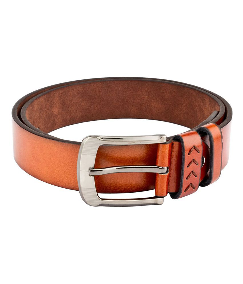 Swiss Design Men Casual Tan Leatherite Belt - SDBLT-111-TN
