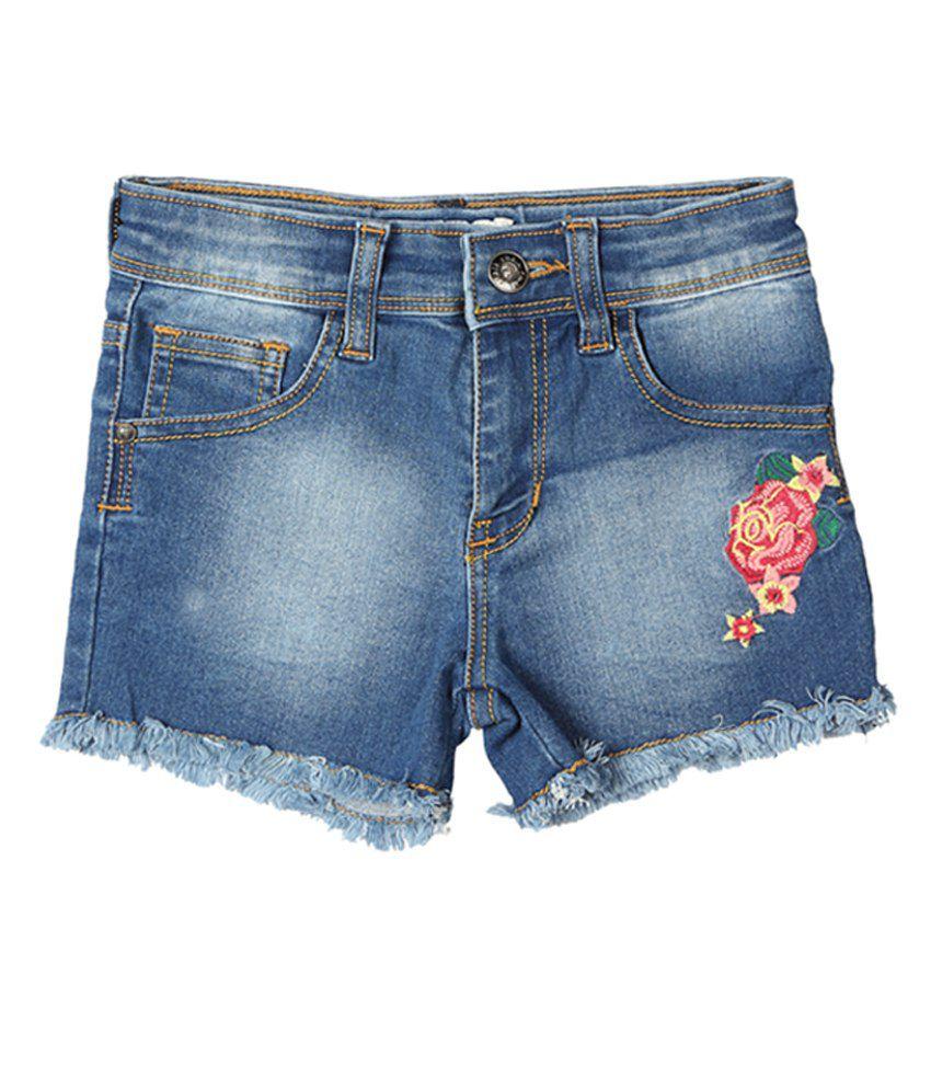 Chalk by Pantaloons Blue Regular Fit Shorts