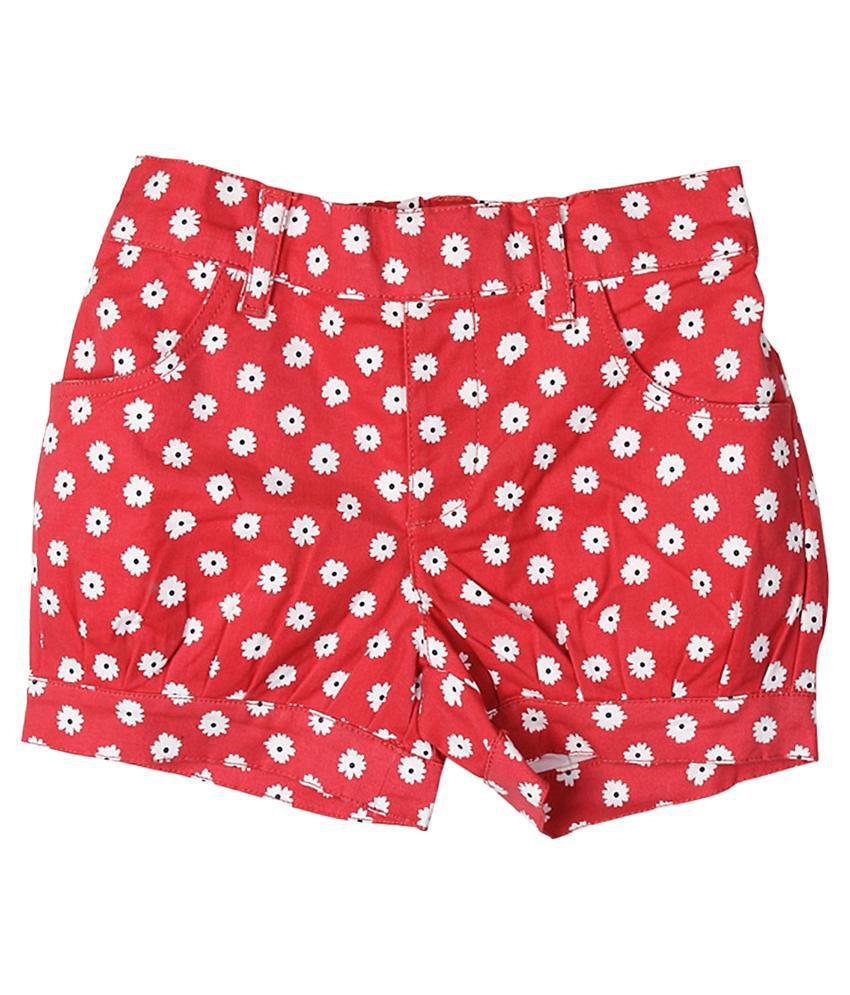 Trishaa by Pantaloons Red Printed Shorts