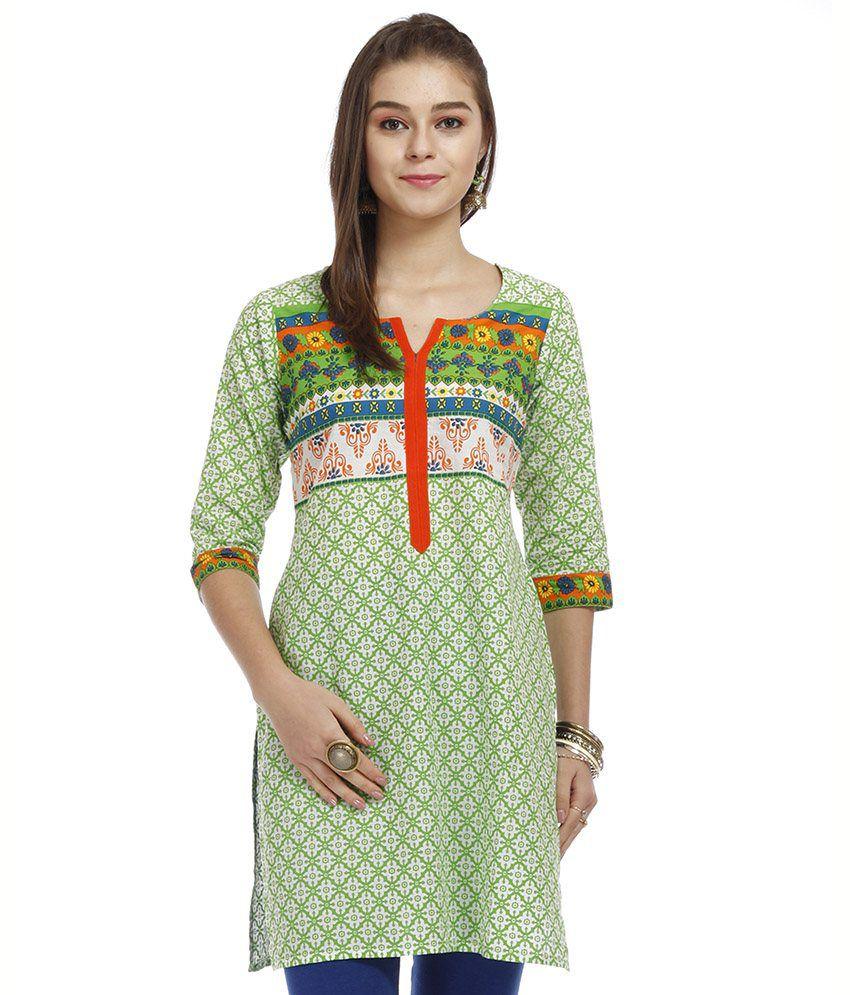 Amithi Multi Color Cotton Kurti