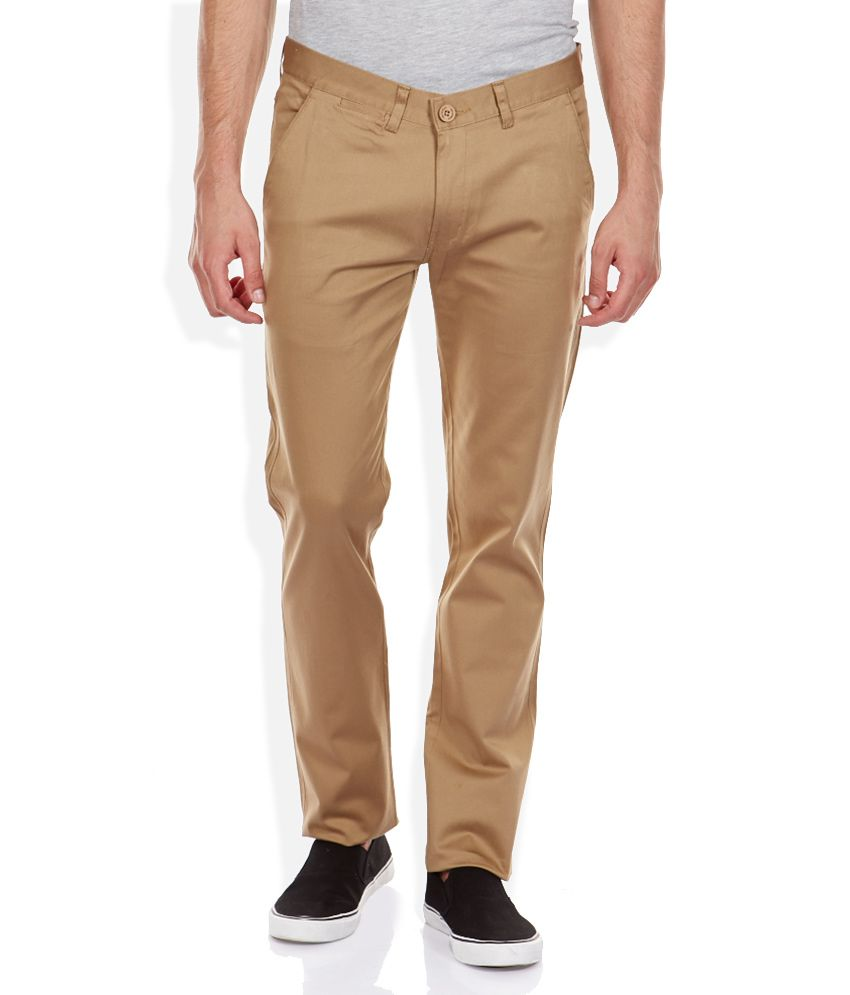 Duke Khaki Regular Fit Trousers