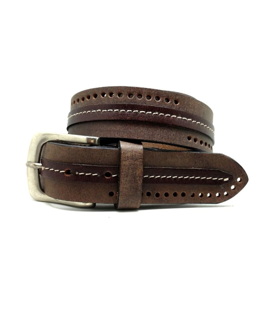Lapalma Pin Buckle Brown Leather Belt For Men