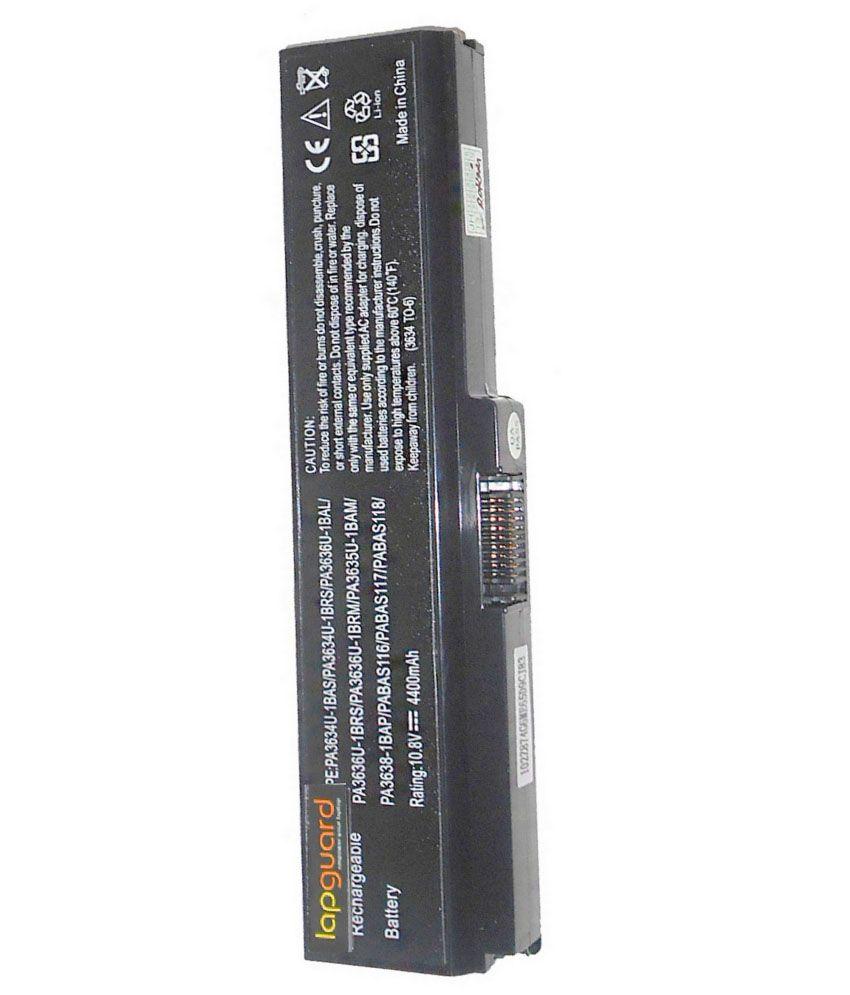 Lapguard 4400 mAh Laptop Battery For Toshiba Satellite C655 - Black