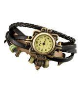 Lotus International Watch (Women Watches) Black Leather Round Watch
