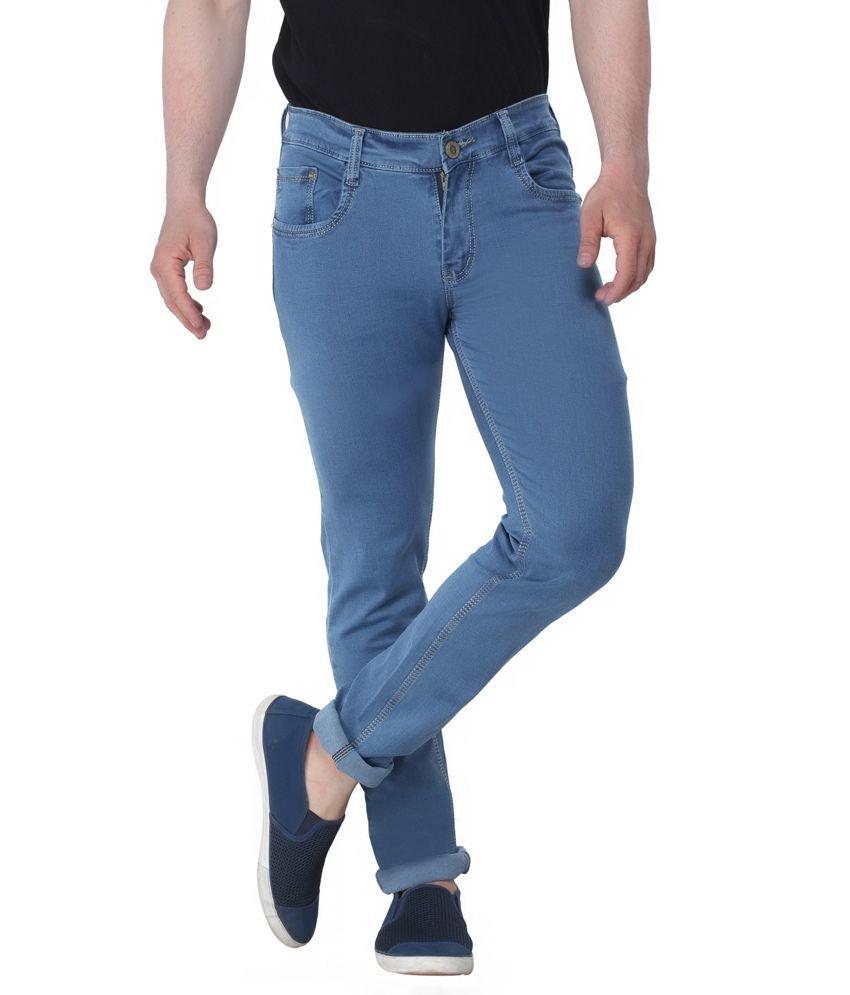 Altran Blue Cotton Skinny Fit Jeans