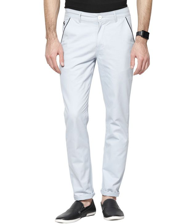 Haute Couture Classy Blue Casual Chinos