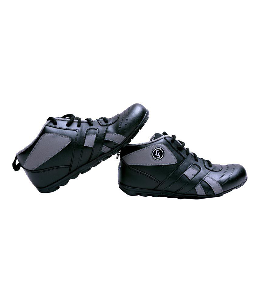 Lehar Black Smart Casuals Shoes - Buy