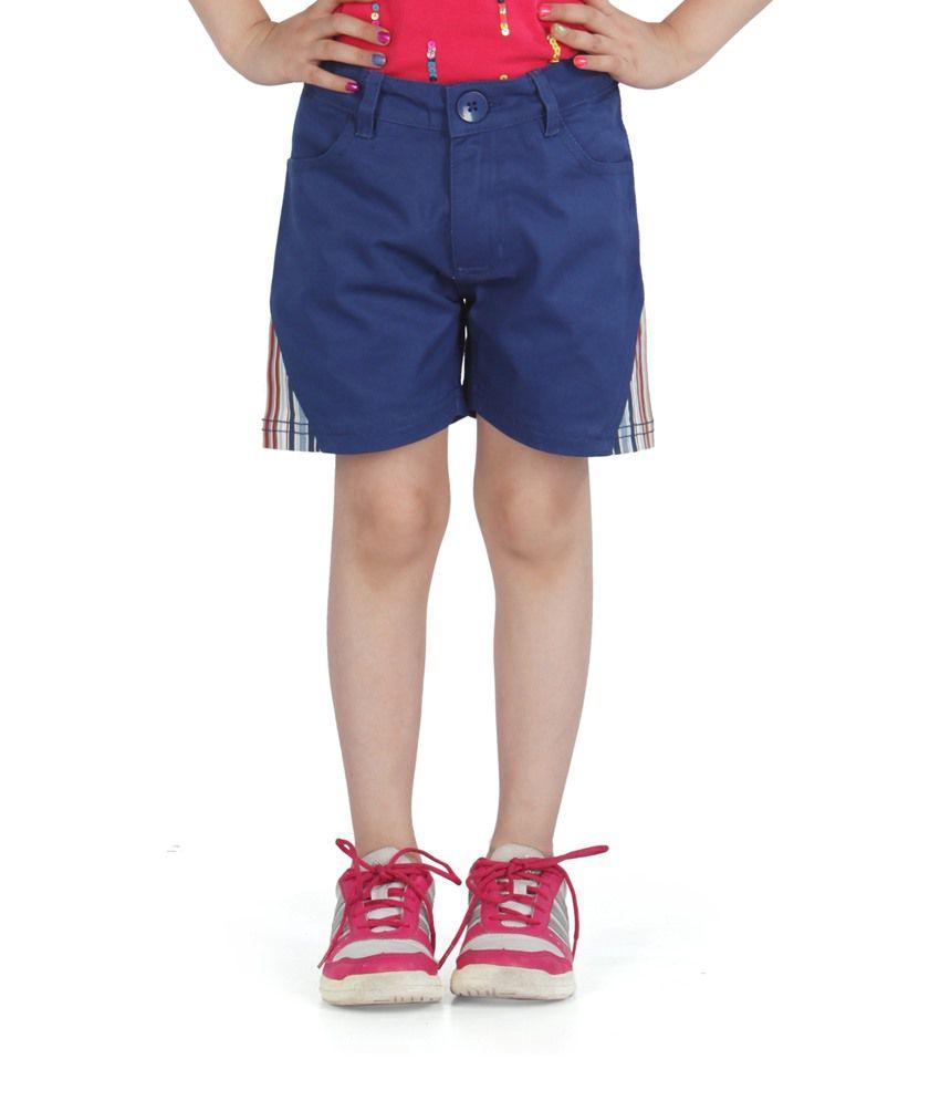 Posh Kids Blue Cotton Shorts