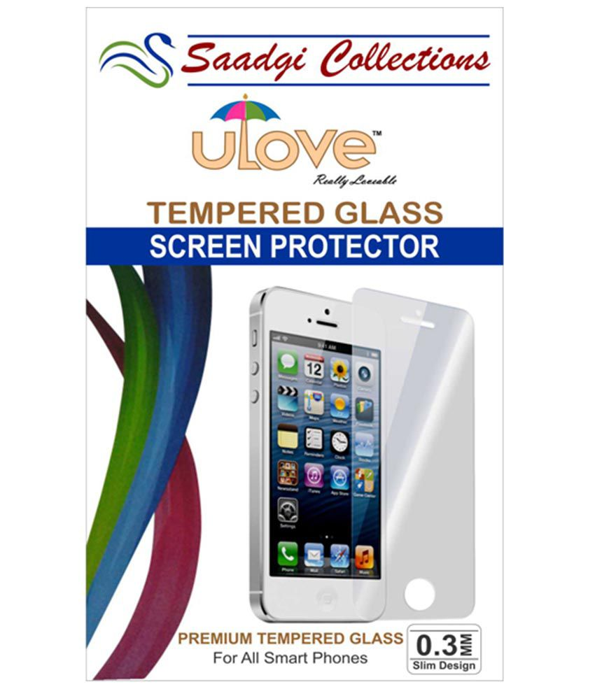 Micromax A300 Canvas Gold Tempered Glass Screen Guard by Saadgi Collections