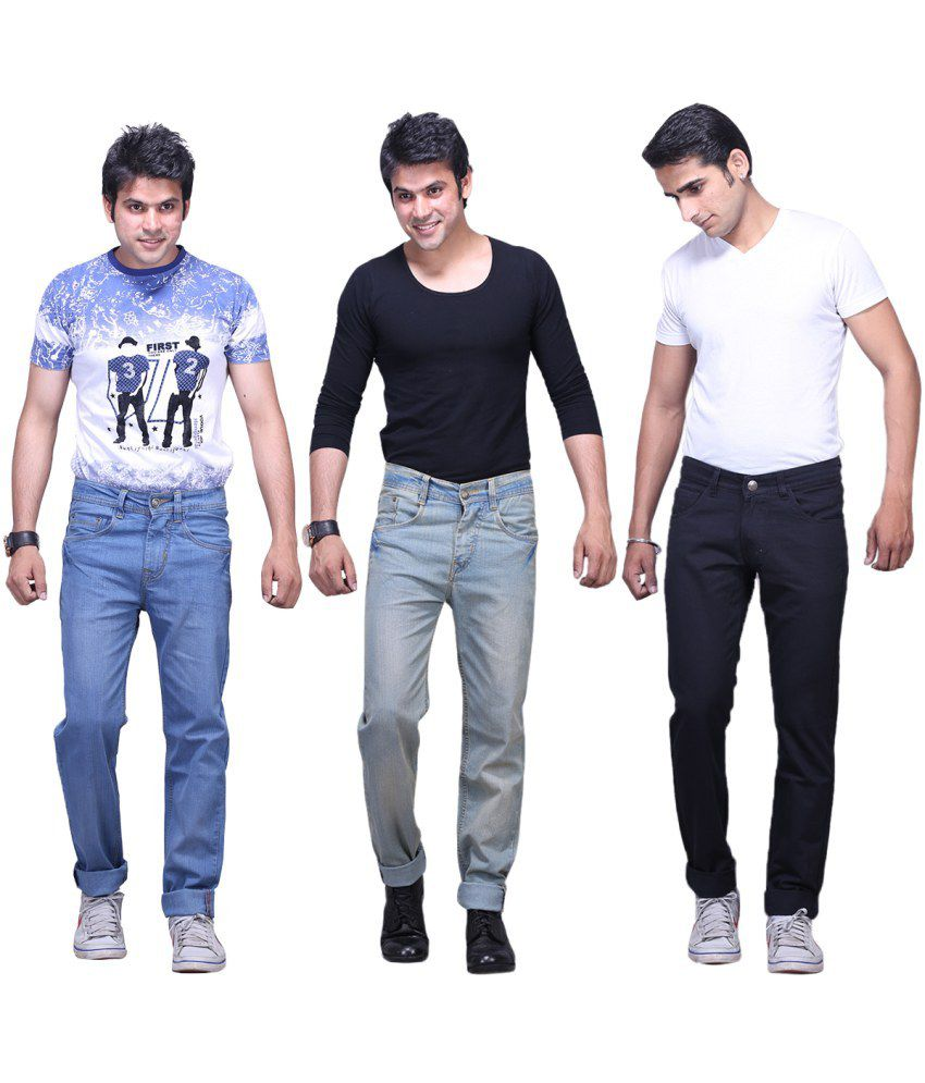 X-cross Pack Of 3 Denim Regular Fit Jeans