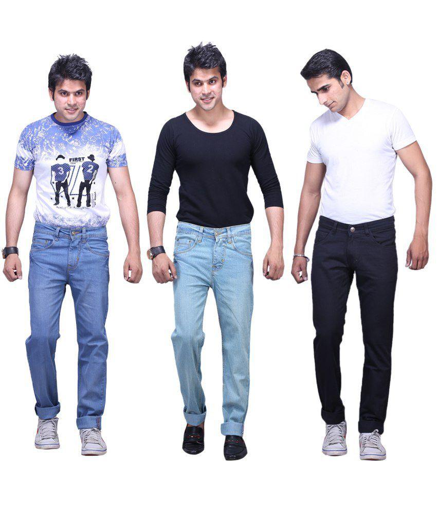 X-cross Pack Of 3 Denim Regular Fit Jeans