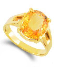 Barishh Gems Citrine Substitute Yellow Sapphire Ring