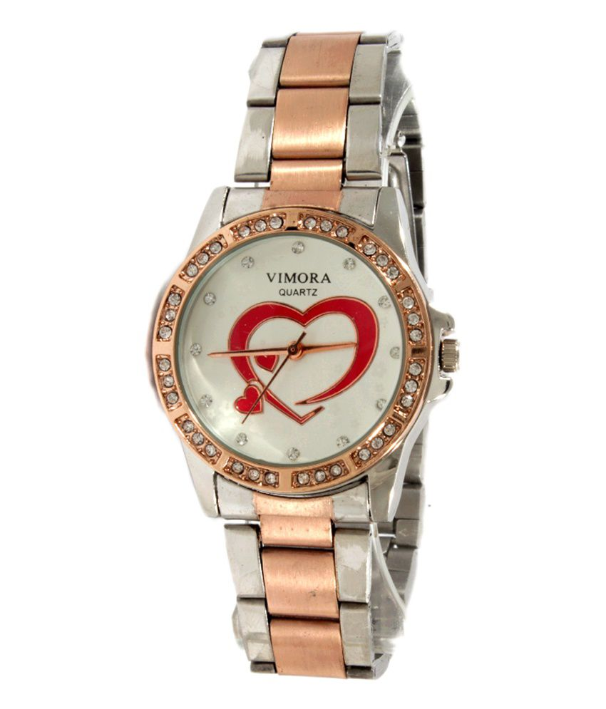 519e3995d Gala Time Vimora Fashionable Copper Silver Theam Diamond Studded Women's  Watch Price in India: Buy Gala Time Vimora Fashionable Copper Silver Theam  Diamond ...