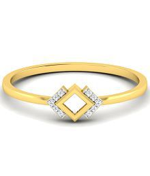 Sparkles Appealing 0.03 Ct Diamond & 18 Kt Gold Ring for Women