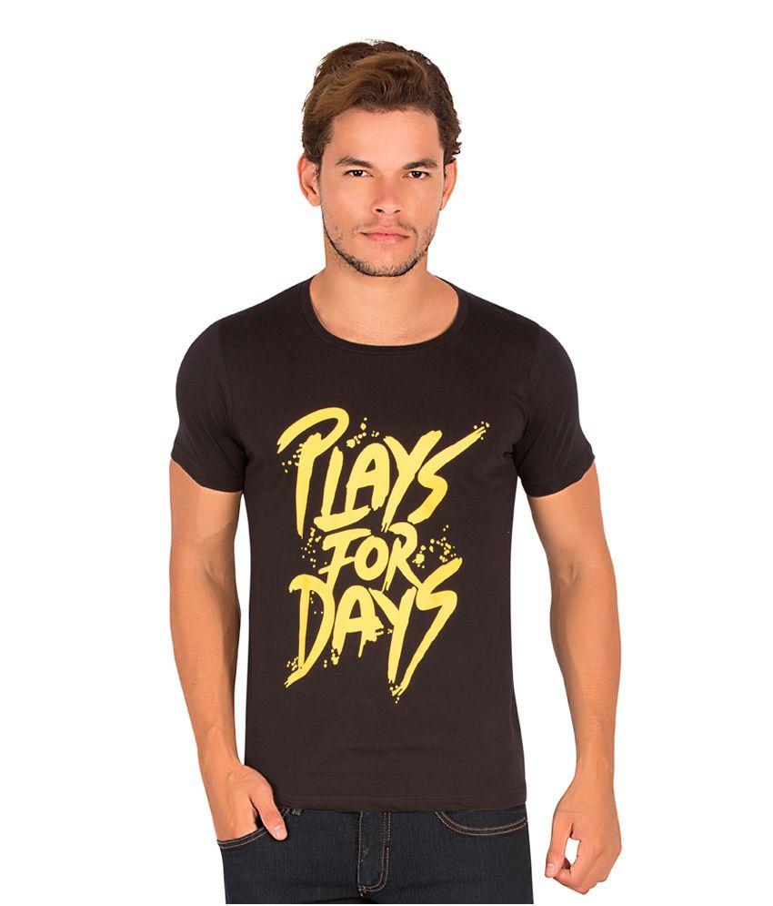 Alan Jones Black Cotton T-Shirt