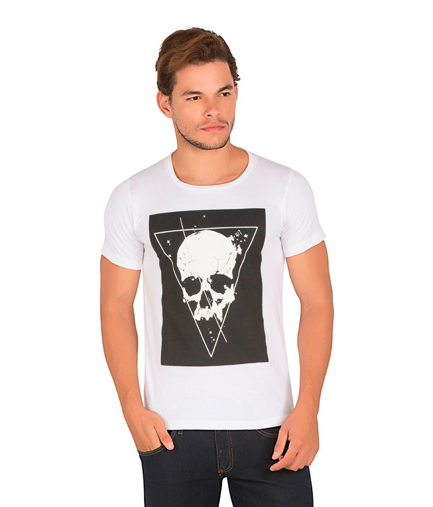 Alan Jones White Cotton T-Shirt