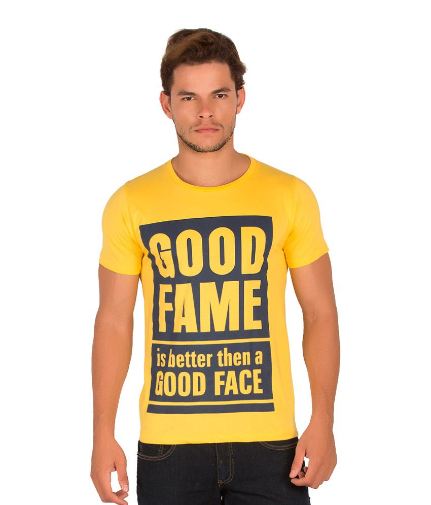 Alan Jones Yellow Cotton T-Shirt