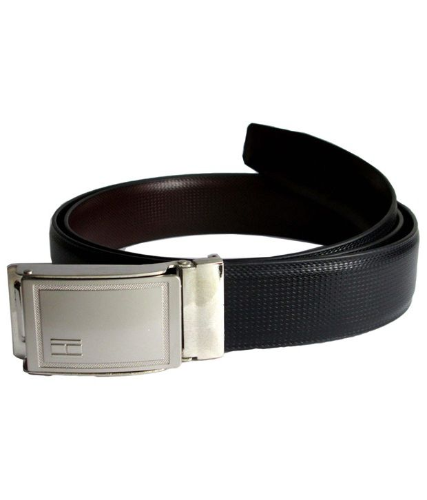 Galaxy Italian Leather Reversible Belt For Mens