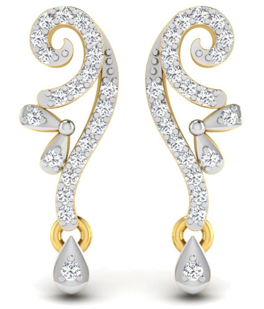 Sparkles 0.1 Ct Diamond & 18K Gold Stud Earrings