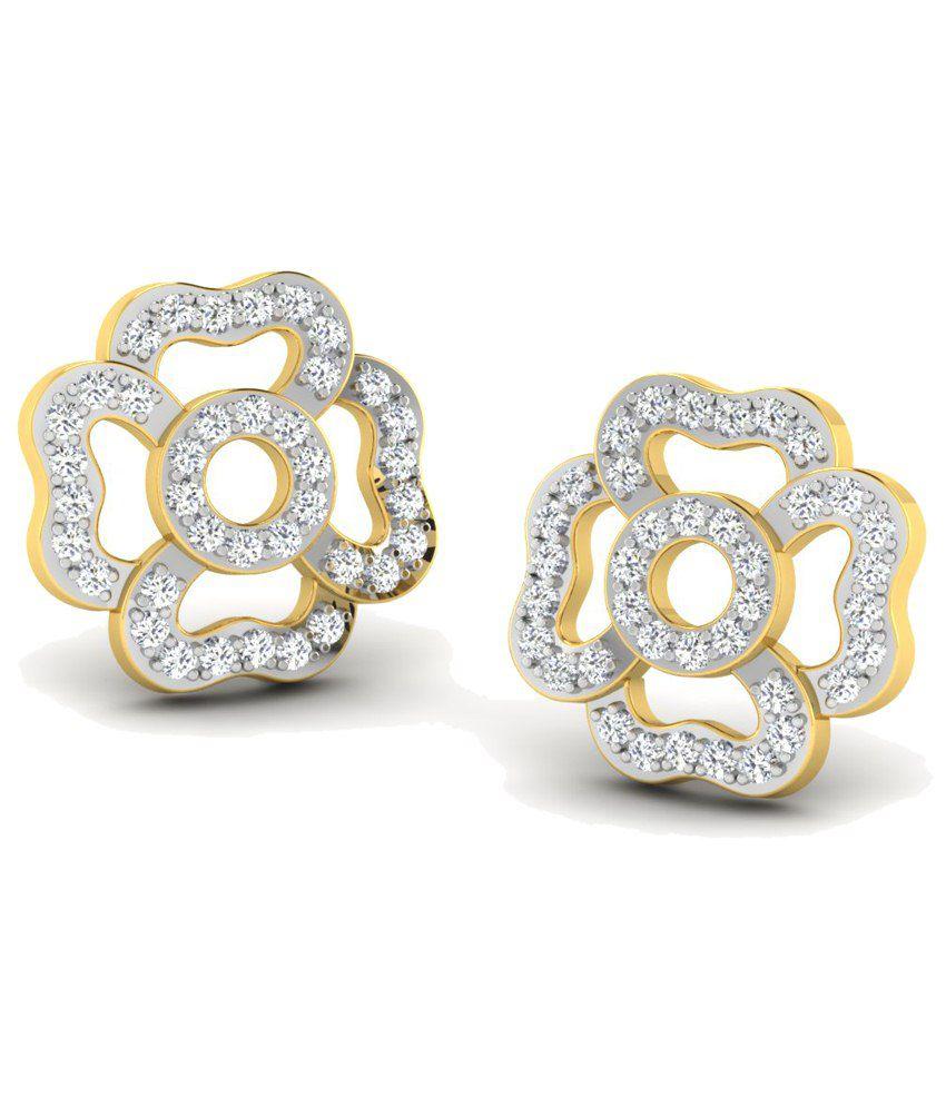 Sparkles 0.15 Ct Diamond & 18 Kt Gold Stud Earrings