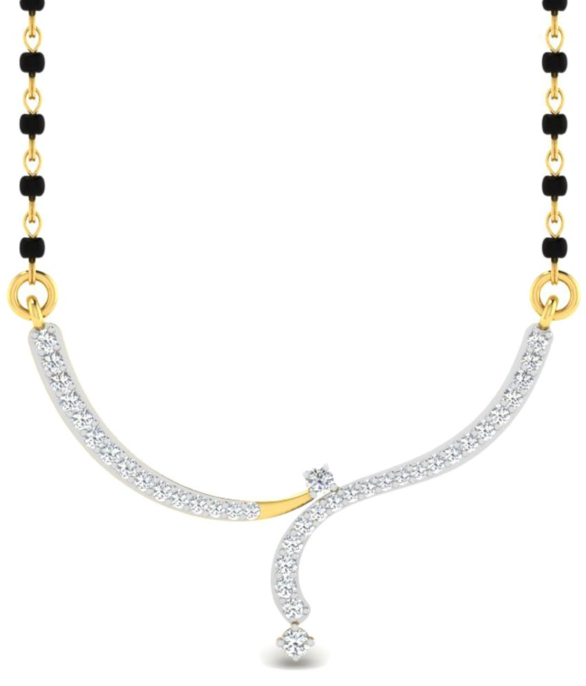 Sparkles 0.19 Ct Diamond & 18 Kt Gold Mangalsutra