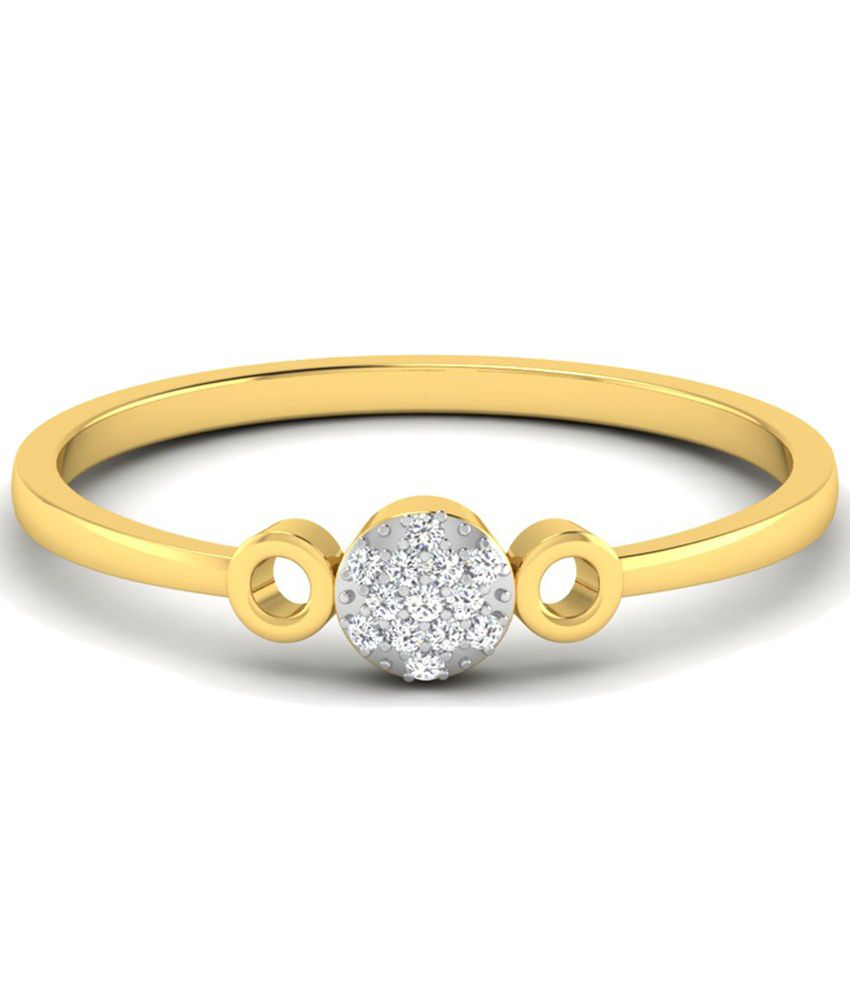Sparkles Excellent 0.03 Ct Diamond & 18 Kt Gold Ring for Women