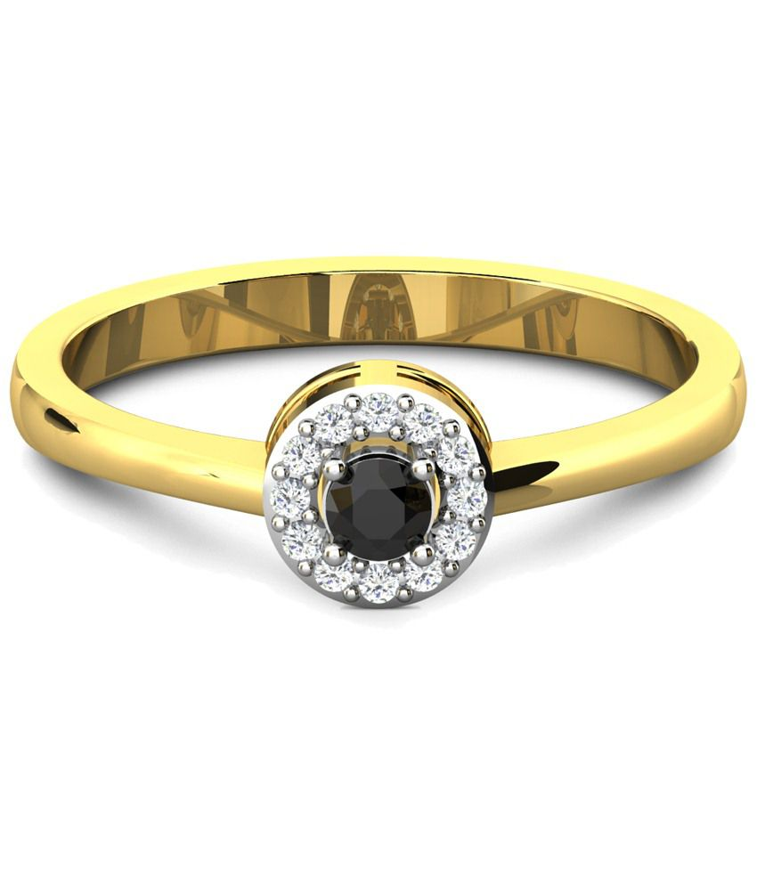 Sparkles Mesmerising 0.17 Ct Diamond & 18 Kt Gold Ring for Women