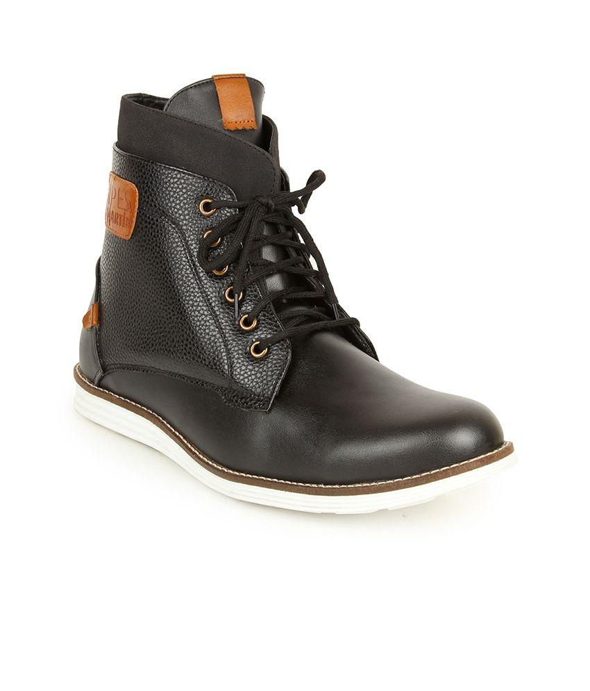Alpes Martin Black Leather Boots