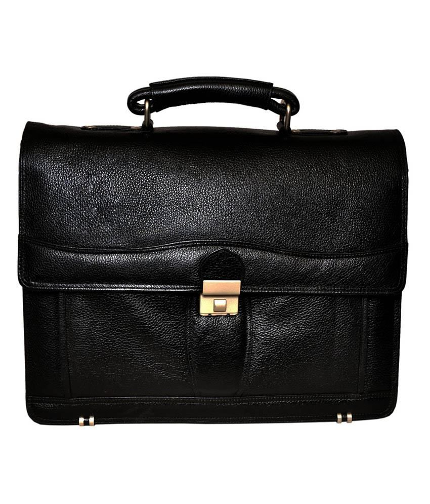 Bag Jack Black Leather Vulpecula Bag