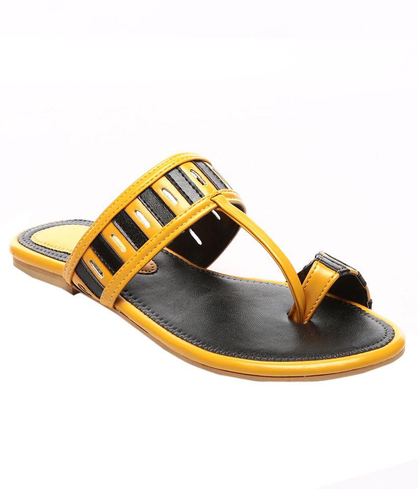 Nell Yellow Flat Slip Ons